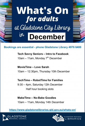 What's On Gladstone Template December