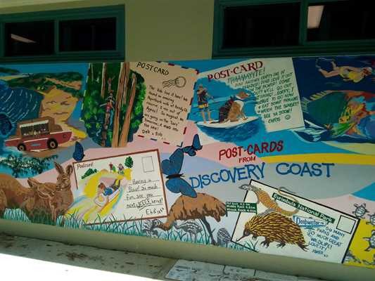Mural in the Agnes Water Library Croft